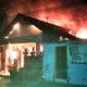 Sebuah rumah di Ponggok Kabupaten Blitar ludes terbakar akibat konsleting