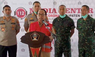 Bupati Blitar, Rijanto memberikan penjelasan terkait warga Blitar yang positif Convid-19