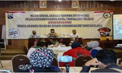 Sosialisasi UU ITE yang digelar Polres Blitar Bersama Diskominfo.
